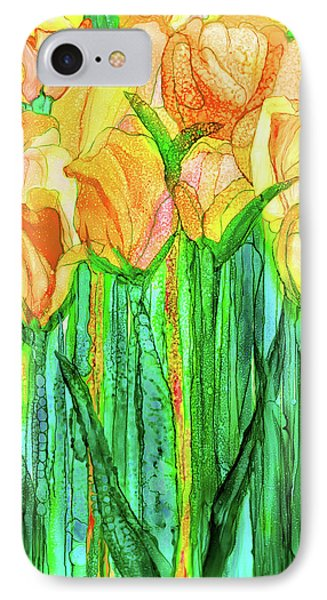 Tulip Bloomies 1 - Yellow IPhone Case by Carol Cavalaris