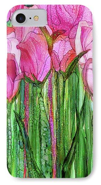 Tulip Bloomies 2 - Pink IPhone Case by Carol Cavalaris