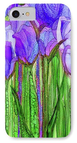 Tulip Bloomies 2 - Purple IPhone Case by Carol Cavalaris