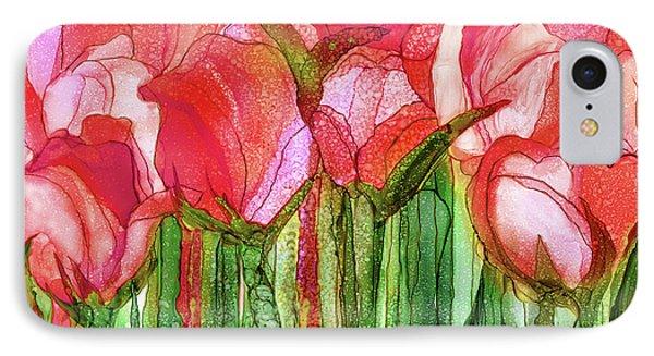 Tulip Bloomies 3 - Red IPhone Case by Carol Cavalaris