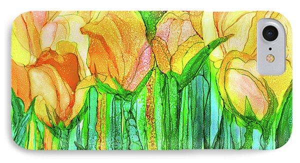 Tulip Bloomies 3 - Yellow IPhone Case by Carol Cavalaris
