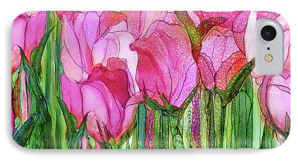 Tulip Bloomies 4 - Pink IPhone Case by Carol Cavalaris