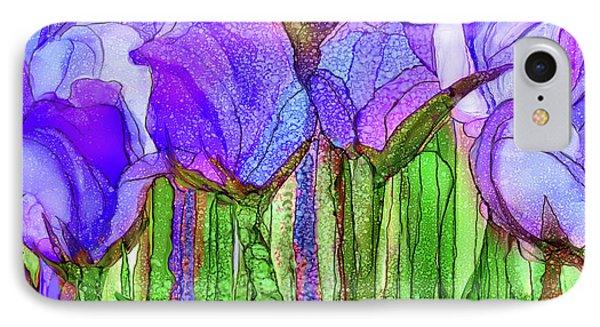 Tulip Bloomies 4 - Purple IPhone Case by Carol Cavalaris