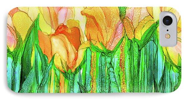 Tulip Bloomies 4 - Yellow IPhone Case by Carol Cavalaris
