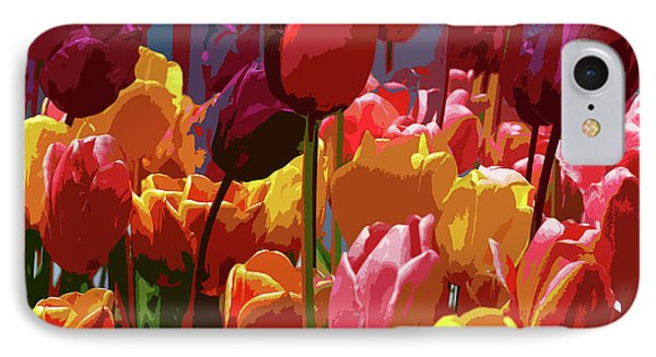 Tulip Confusion IPhone Case by Sharon Talson