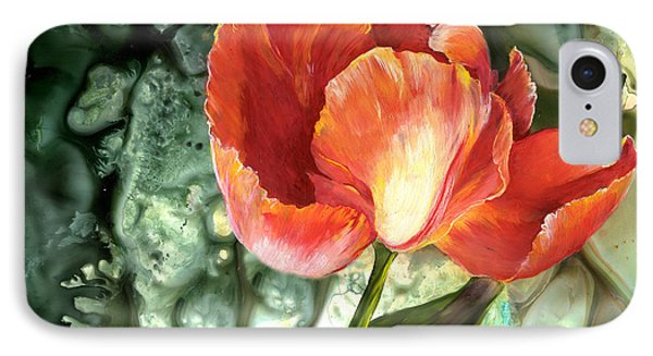 IPhone Case featuring the painting Tulip Dance by Sherry Shipley