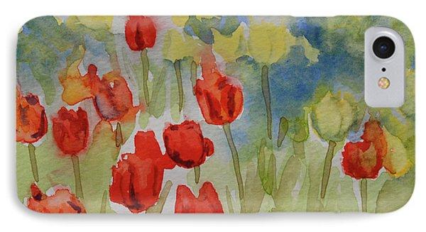Tulip Field IPhone Case by Gretchen Bjornson