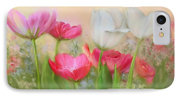 IPhone Case featuring the painting Tulip Garden by Bonnie Willis