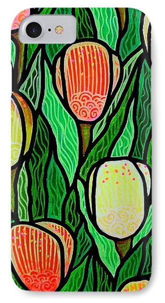 Tulip Joy 2 IPhone Case by Jim Harris