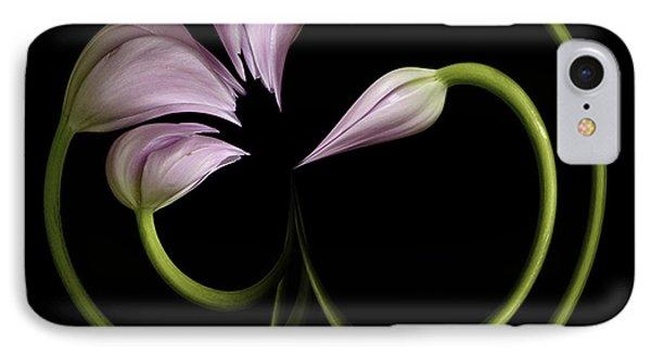 Tulip Swirl IPhone Case by Virginia Paul