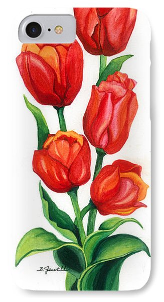 IPhone Case featuring the painting Tulip Time by Barbara Jewell