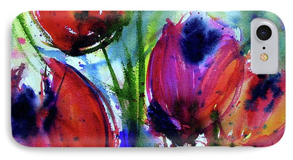 IPhone Case featuring the painting Tulips 1 by Marti Green