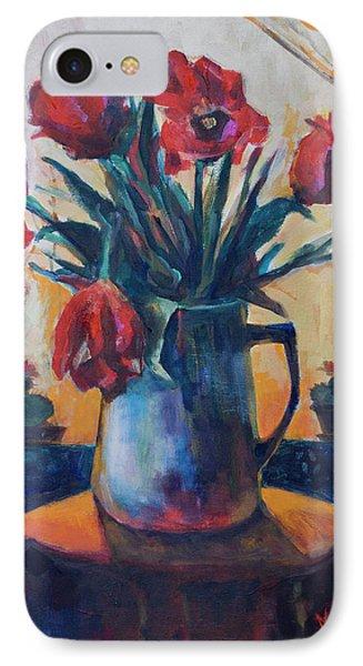 Tulips And Cacti IPhone Case by Maxim Komissarchik