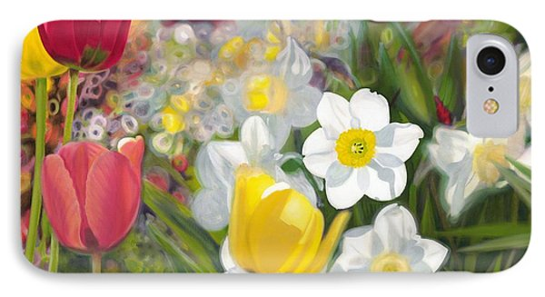 Tulips And Daffodils Phone Case by Nicole Shaw