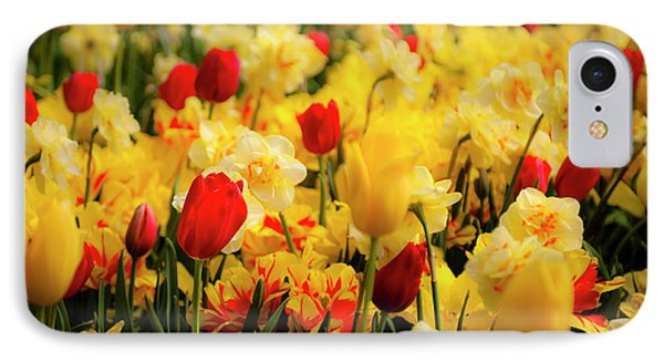 Tulips And Daffodils Phone Case by Tamyra Ayles