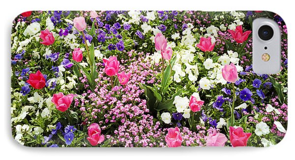 Tulips And Other Colorful Flowers In Spring IPhone Case by Matthias Hauser