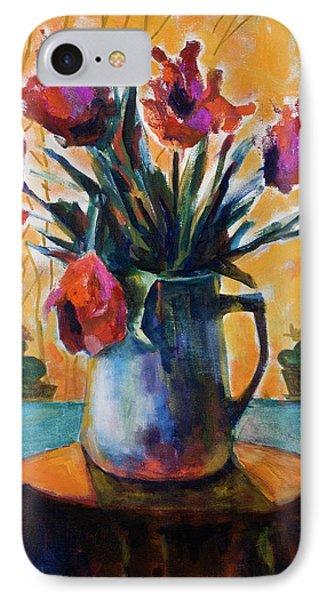 Tulips At Sunset IPhone Case by Maxim Komissarchik