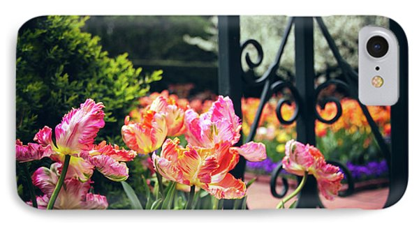 Tulips At The Garden Gate IPhone Case by Jessica Jenney