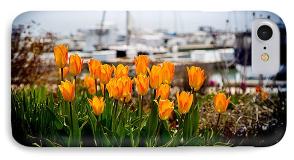 Tulips By The Harbor IPhone Case by Milena Ilieva