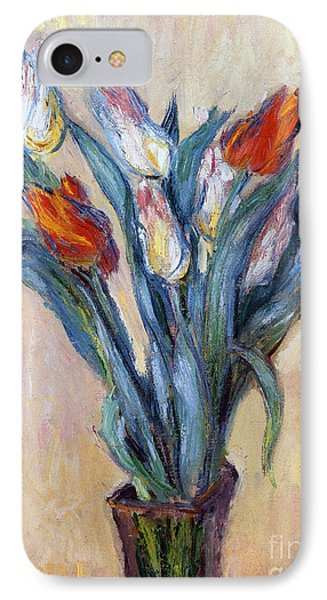 Tulips Phone Case by Claude Monet