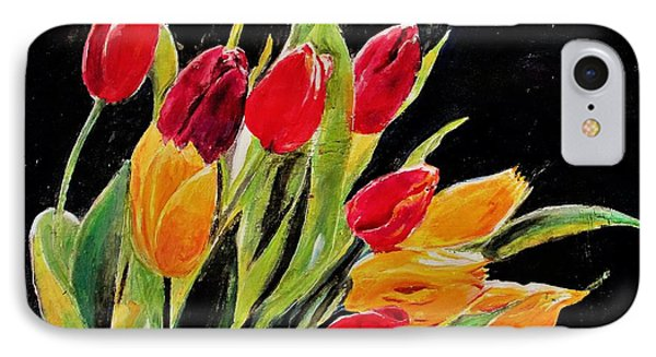 Tulips Colors IPhone Case by Khalid Saeed