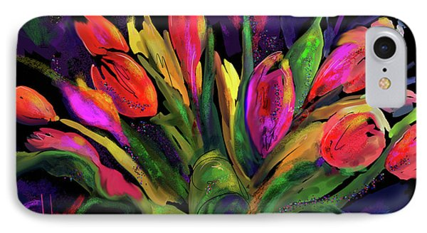 Tulips IPhone Case by DC Langer