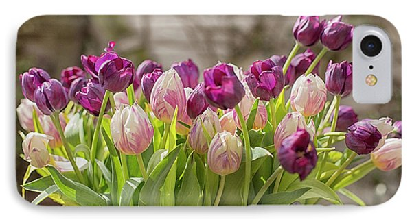IPhone Case featuring the photograph Tulips In A Bucket by Patricia Hofmeester