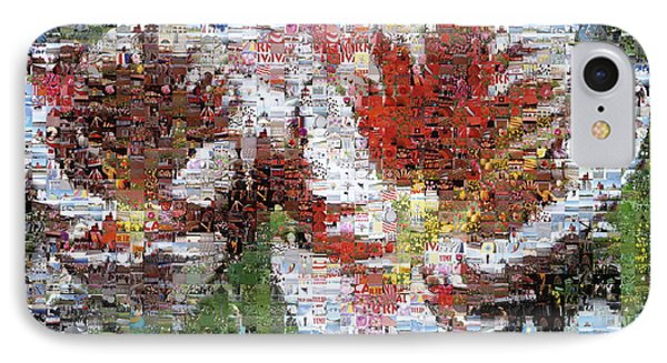 Tulips In Springtime Photomosaic Phone Case by Michelle Calkins