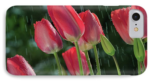 IPhone Case featuring the photograph Tulips In The Rain by William Lee