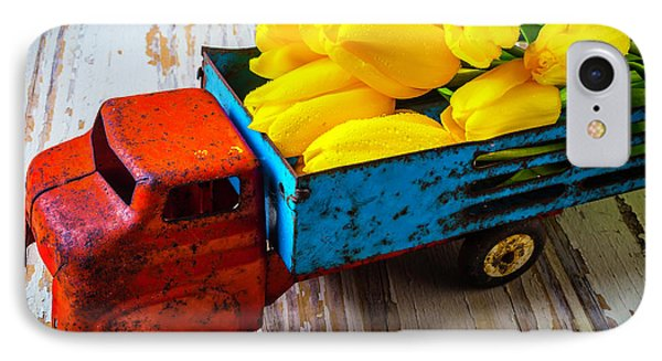 Tulips In Toy Truck IPhone Case by Garry Gay