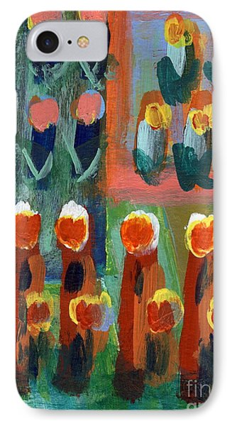 IPhone Case featuring the painting Tulips by Jan Daniels