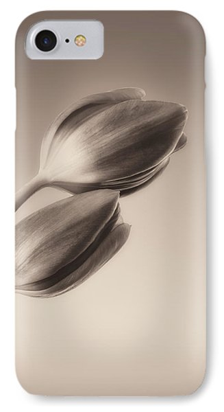Tulips Monochrome IPhone Case by Wim Lanclus