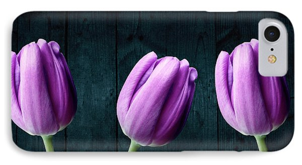 Tulips On Wood IPhone Case