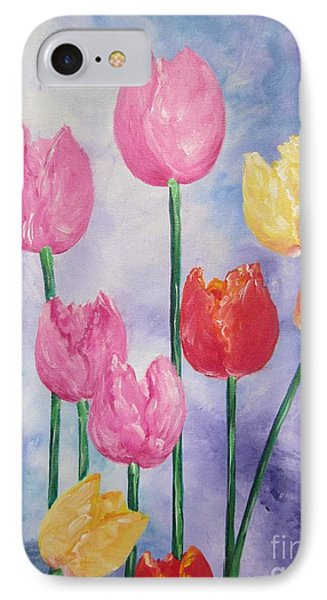 Tulips - Red-yellow-pink IPhone Case