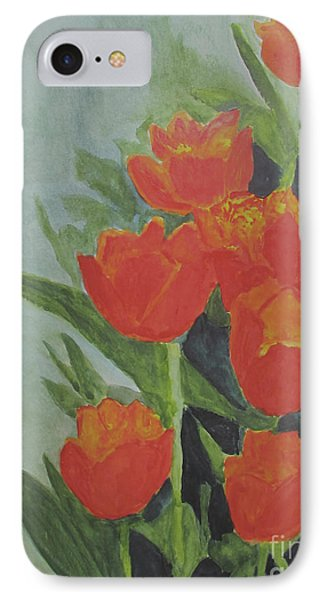IPhone Case featuring the painting Tulips by Sandy McIntire