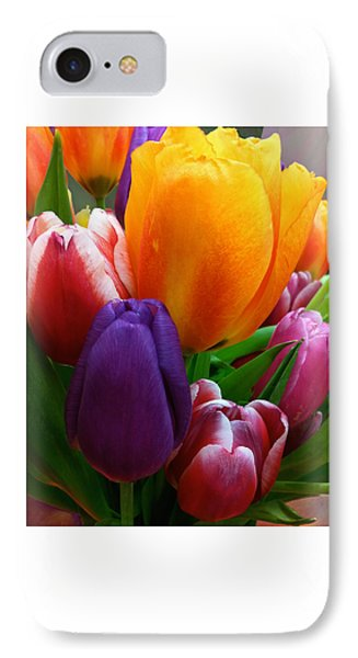 IPhone Case featuring the photograph Tulips Smiling by Marie Hicks