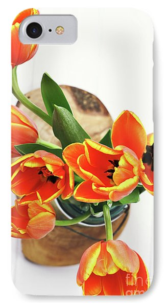 IPhone Case featuring the pyrography Tulips by Stephanie Frey