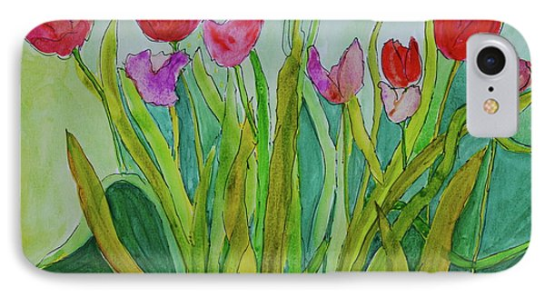 Tulips IPhone Case by Teresa Tilley