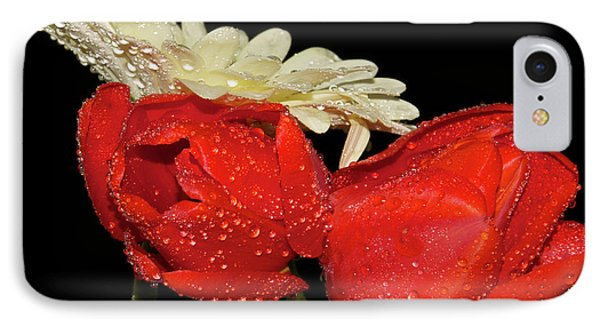 IPhone Case featuring the photograph Tulips With Gerber by Elvira Ladocki