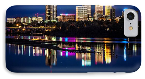 Tulsa Skyline At Twilight IPhone Case by Tamyra Ayles
