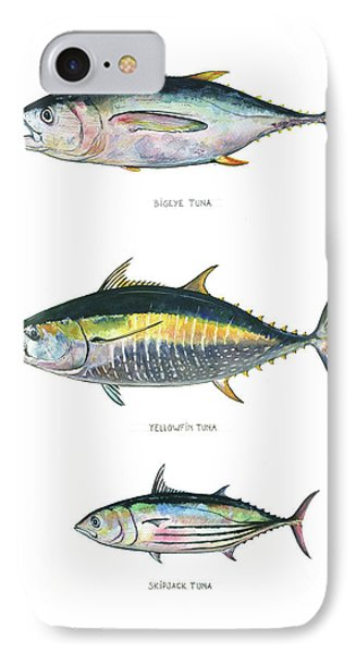 Tuna Fishes IPhone Case by Juan Bosco