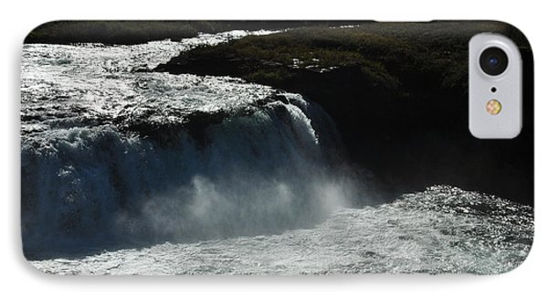 Tungufljot River And Faxi Falls Phone Case by David Halperin