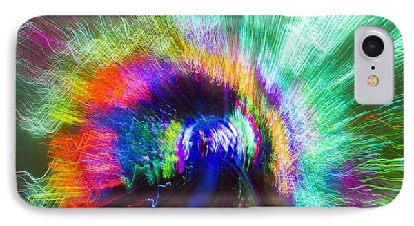 IPhone Case featuring the photograph Tunnel Lights by Angela DeFrias