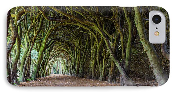 IPhone Case featuring the photograph Tunnel Of Intertwined Yew Trees by Semmick Photo