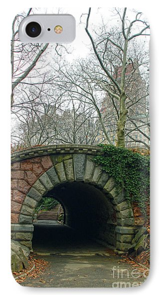 Tunnel On Pathway IPhone Case by Sandy Moulder