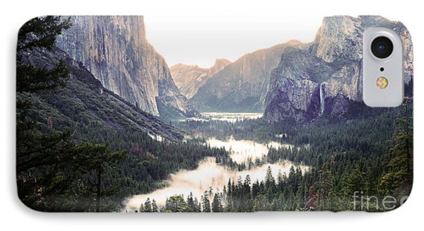 Tunnel View At Dawn In Yosemite National Park IPhone Case