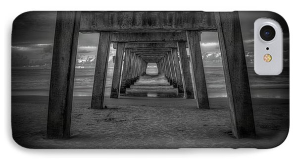 Tunnel Vision Tybee Island Pier Tybee Island Georgia  IPhone Case by Reid Callaway