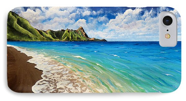 IPhone Case featuring the painting Tunnels Beach by Chad Berglund