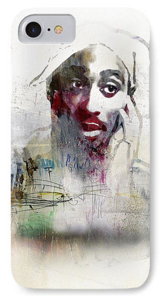 Tupac Graffitti 2656 IPhone Case by Jani Heinonen