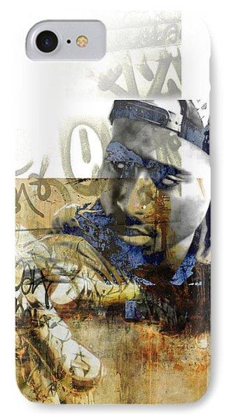 Tupac Graffitti 7578 IPhone Case by Jani Heinonen